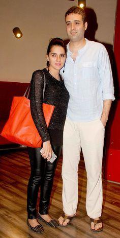 Shruti Seth and Danish Aslam at the screening of Chaar Sahibzaade