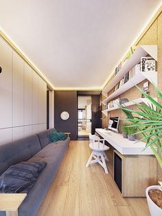 Family friendly home packed with modern decor ideas & home design features for different rooms. Find storage ideas, new furniture styles and colour combinations Furniture Styles, New Furniture, Flat Interior, Skyfall, Contemporary Interior, Friends Family, Modern Decor, Corner Desk, House Design