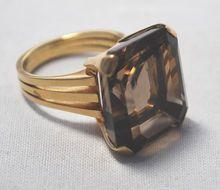 20+ carat smoky quartz ring
