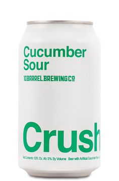 Cucumber Crush – 10 Barrel Brewing Co. 10 Barrel, Big Design, The Time Is Now, Best Beer, Brewing Co, Brewery, Cucumber, Crushes, Canning