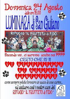 24/8 Luminara di S. Giuliano: stand dei #volontari della Sede locale della #LegadelCane #Pisa