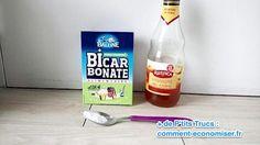 se laver les cheveux avec bicarbonate et vinaigre de cidre