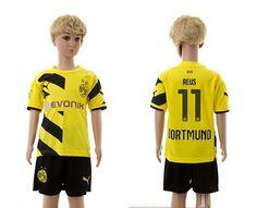 Dortmund #11 Reus Yellow Home Kid Soccer Club Jersey