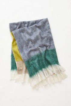 Woven Gradient Throw in green #anthropologie  on clearance now for $40