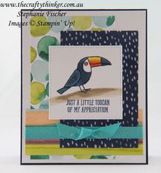 The Crafty Thinker: Stephanie Fischer - Independent Stampin' Up Demonstrator: Bird Banter - Sneak Peek Bee Cards, Making Greeting Cards, Beautiful Handmade Cards, Animal Cards, Card Maker, Thing 1, Card Sketches, Kids Cards, Stampin Up Cards