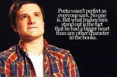 Peeta and his steadfastness.... <3