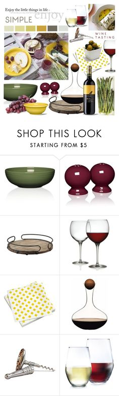 """""""Wine Tasting"""" by calamity-jane-always ❤ liked on Polyvore featuring interior, interiors, interior design, home, home decor, interior decorating, Fiesta, Alessi, Vitra and Luminarc"""