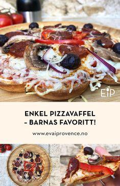 Enkel pizzavaffel - barnas favoritt! Provence, French Toast, Breakfast, Food, Morning Coffee, Provence France, Meals, Yemek, Eten