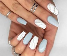 Imagen de nails, rings, and marble