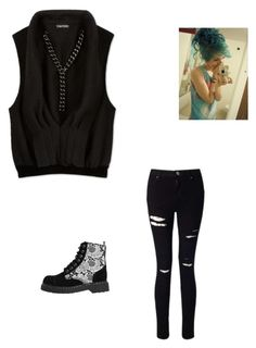 """""""Meeting Harley Quinn Again"""" by maryvarleyrox ❤ liked on Polyvore featuring Miss Selfridge and T.U.K."""