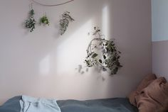 natural, soft bedroom