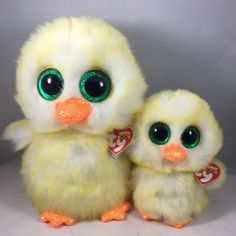 From the Ty Easter Beanie Boos collection. - LEMON DROP the Yellow Chick Regular Size). Ty Beanie Boos, Easter 2020, Plush, Bird, Yellow, Animals, Animales, Animaux, Animais