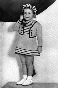 gratis patroon. Juvenile Styles Vol. 32. Adorable sailor style!