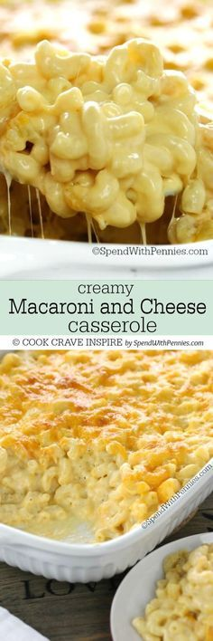 This Creamy Macaroni and Cheese Casserole is a show stopper! It's easy to ma… This Creamy Macaroni and Cheese Casserole is a show stopper! It's easy to make with tons of rich cheese sauce and a secret ingredient making it extra delicious! Macaroni And Cheese Casserole, Creamy Macaroni And Cheese, Mac And Cheese Homemade, Casserole Recipes, Mac And Cheese Recipe With Heavy Cream, Creamy Cheese Pasta Sauce, Mac N Cheese Easy, Cracker Barrel Mac And Cheese Recipe, Homemade Mac And Cheese Recipe Baked