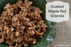 Do you like granola but find many store-bought (and even homemade) varieties include ingredients you'd rather avoid? If so, I think you'll enjoy this soaked maple-nut granola. It's grain free, uses nourishing ingredients, is packed with nuts, and is bursting with flavor. I'm sharing the recipe at GNOWFGLINS. Hop over to check it out. Share …