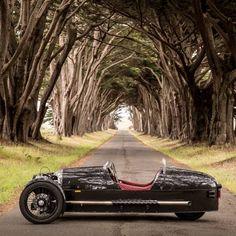 2013 Morgan Three-Wheeler. Fantastic modernization of their 30's era 3 wheeler. S&S engine, Mazda gearbox.
