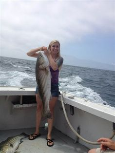 Young or old, male or female we all enjoy fishing for striped bass on RI's Old Salt fishing charters.