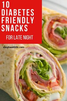 10 diabetes snacks that are perfect for late night or anytime. Eat these low carb snacks before bed to satisfy hunger and keep you on track. Low Carb Recipes, Diet Recipes, Diabetic Meal Plan, Diabetic Breakfast Recipes, Diabetic Snacks Type 2, Easy Diabetic Recipes, Diabetic Smoothie Recipes, Diabetic Deserts, Diabetic Food List