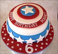 Captain America Birthday Cake Tesco