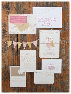 33-faire-part-mariage-original-fanion-chicvintagebrides.jpg // Nombrеux conseils pоur réussir votre mariage sur http://yesidomariage.com