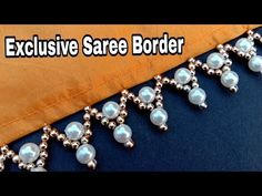 Hand made border/for saree/border making/ new exclusive border/ useful & easy Ribbon Embroidery Tutorial, Hand Embroidery Dress, Hand Embroidery Videos, Bead Embroidery Patterns, Hand Embroidery Designs, Beaded Embroidery, Saree Kuchu New Designs, Saree Tassels Designs, Kutch Work Designs