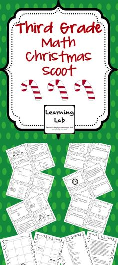This Christmas themed math scoot game reviews third grade skills from the first few months of the school year using the Everyday Mathematics program.