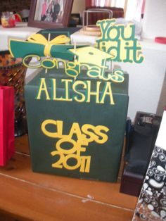 card boxes for graduation party | Graduation Card Box
