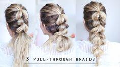 how to PULL THROUGH BRAID   3 ways to wear it!   Twist Me Pretty