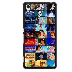 Disney Movie Collage TATUM-3366 Sony Phonecase Cover For Xperia Z1, Xperia Z2, Xperia Z3, Xperia Z4, Xperia Z5