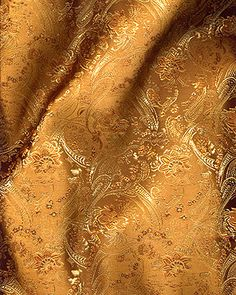 """45"""" Chinese Brocade -  Small Paisley  Bronze - by the yard"""