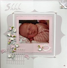Beckys bits n pieces: Shhh A 12x12 Layout with Tutorial