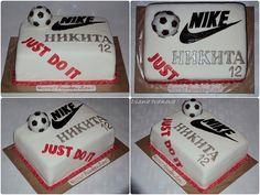 11th Birthday, 1st Birthday Parties, Birthday Cakes, Delicious Cake Recipes, Yummy Cakes, Nike Cake, Birthday Backdrop, Cake Decorations, Cookie Desserts