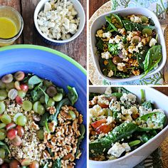 Blue Cheese Spinach Quinoa Salad from MountainMamaCooks.com and WisconsinCheese