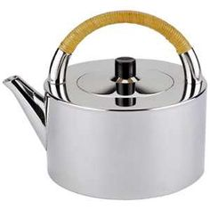 Tea Pot, Erik Magnussen - Another masterpiece from the Danish Industrial Designer Erik Magnussen, this pewter teapot is an embodiment of modern pewter design. Brilliantly polished, it is a fine gift for young and successful professionals, for almost any occasion.