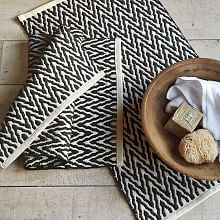 Zig Zag Bath Mat@ West Elm - bought this for the bath rug. it looks great with the floor tile and the fabrics for the shower curtain Bathroom Rugs, Bath Rugs, Bathroom Furniture, Modern Furniture, Master Bathroom, Barn Bathroom, Bathroom Curtains, Furniture Sale, Shower Curtains