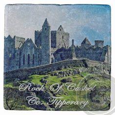 Rock of Cashel Tipperary Irish Marble Coaster. by CoastersByHazel