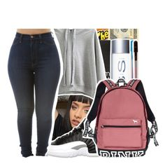 10|13|16 (THAT'S MY BABY, CAROLINE✨comment the song if u kno it) by purplequeen04 on Polyvore featuring polyvore, fashion, style, WithChic, Victoria's Secret, Dinks, ban.do, Retrò, OPTIONS and clothing