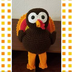 Looking for a cute Turkey to brighten up your Thanksgiving feast this year? All of my Turkeys are 10% off now-Nov 15th. This Turkey is made and ready to ship!