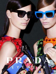Prada Eyewear Spring/Summer 2014 Advertising Campaign, ph. by Steven Meisel.