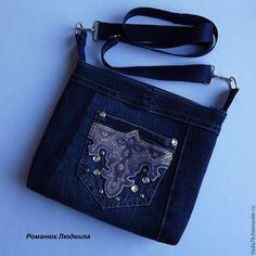 """Сумка джинсовая женская """"Нарядный кармашек"""" – купить в интернет-магазине на Ярмарке Мастеров с доставкой - BLA8NRU"""