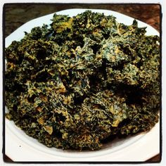 Nacho Cheese Kale Chips (Dairy Free)   I'm not vegan, but do avoid dairy. This is a different take on the standard oil & salt kale chips. Looks yummy!