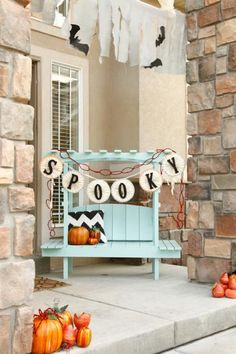 Command(TM) Brand Outdoor Hooks allow you to create the perfect fall-themed entry way.