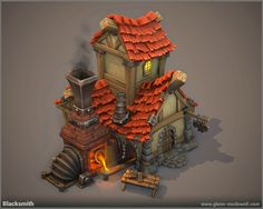 Thunder Cloud Studio, Defenders of the Klaus game environment, Pirate village - Polycount Forum