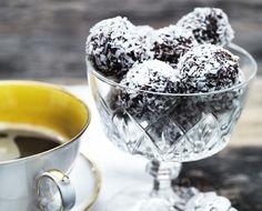 Havregrynskugler med kaffe