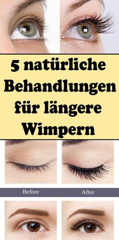 5 natural treatments for longer eyelashes - Lange Haare Ideen Natural Hair Care, Natural Makeup, Natural Hair Styles, Diy Makeup, Makeup Tips, Face Makeup, Longer Eyelashes, Fake Eyelashes, Eyelashes Makeup