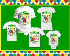 ****Baby Sesame street Elmo birthday family T shirt Customized with birthday girl or boy - ALL LISTINGS INCLUDE UNISEX ADULTS/KIDS/TODDLER/INFANT SHIRTS (ROUND NECK - UNISEX STYLE) **** **** IF YOU WANT TO UPGRADED TO TANK TOP / WOMEN or MEN V-NECK SHIRTS please send me a message so i