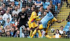 Man City 5 C Palace 0 in May 2017 at the Etihad Stadium. Raheem Sterling hit number 4 with a good shot to make it 4-0 #Prem