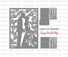 Wedding invitation  SVG DXF ai CRD eps studio3  by TanyaStudioShop