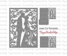 Wedding invitation SVG DXF ai CRD eps studio3 by TanyaStudioShop