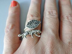 silver tiger ring wrap style adjustable ring animal ring by stavri Ring Bear, Elephant Ring, Animal Rings, Little Gifts, Wrap Style, Women Jewelry, Jewelry Design, Wraps, Silver Rings